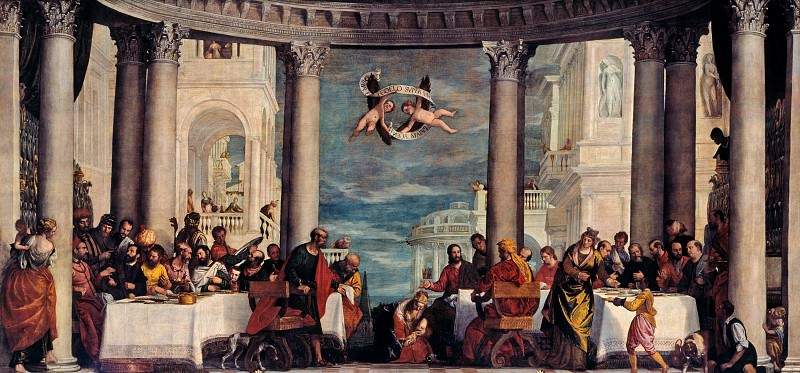 The Feast in the House of Simon the Pharisee. Veronese (Paolo Cagliari)