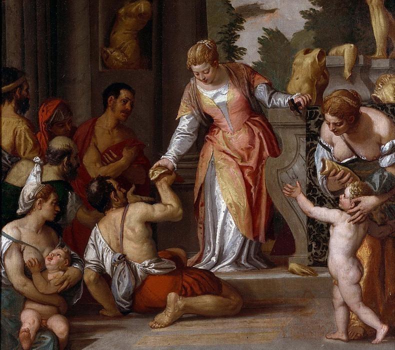 Санта-Кристина раздаёт бедным фрагменты идолов. Веронезе (Паоло Кальяри)