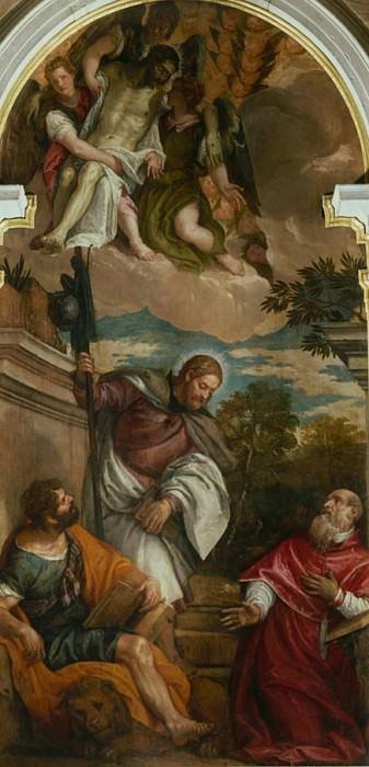 Мертвый Христос поддерживается ангелами и святыми. Веронезе (Паоло Кальяри)