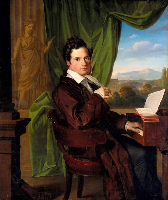 The composer Heinrich Maria Schmidt. Carl Christian Vogel Von Vogelstein