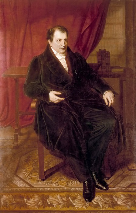 Portrait of the Poet Ludwig Tieck. Carl Christian Vogel Von Vogelstein