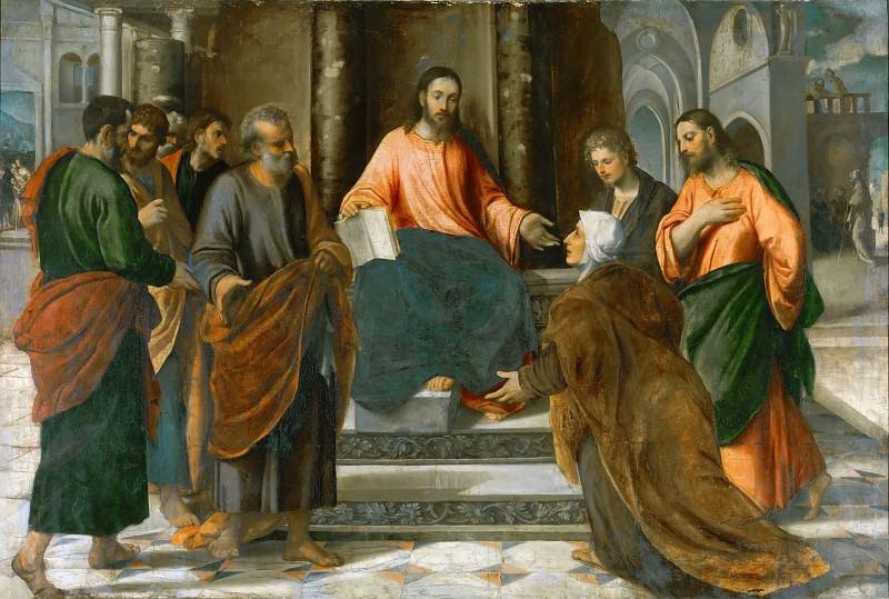 Christ with the Zebedee Family. Veronese (Bonifacio de Pitati)