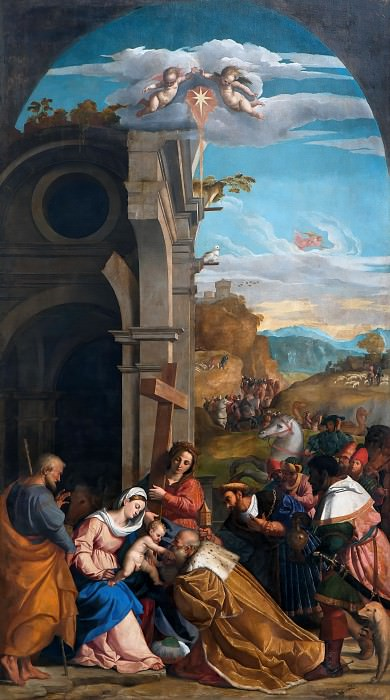 Adoration of the Magi in the Presence of Saint Helen. Palma Il Vecchio (Jacopo Negretti)