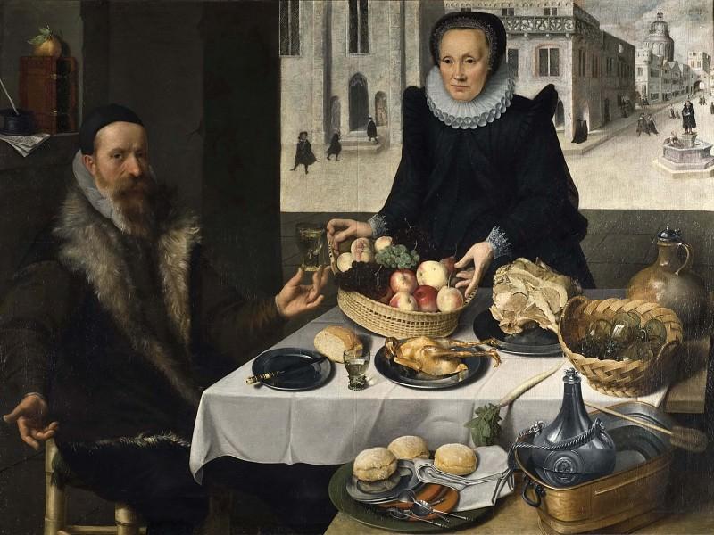 Double Portrait of an Elderly Couple. Lucas van Valckenborch