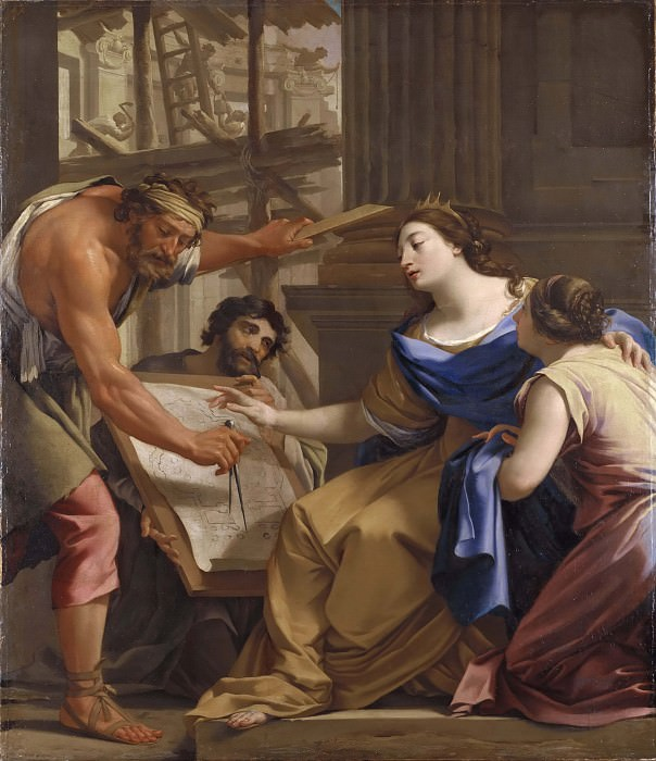 Artemisia Building the Mausolaeum. Simon Vouet