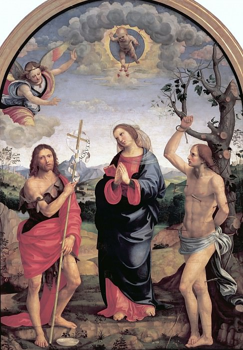 Madonna with Saints John the Baptist and Sebastian. Timoteo Viti