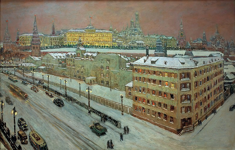 Moscow at night. Heinrich Vogeler