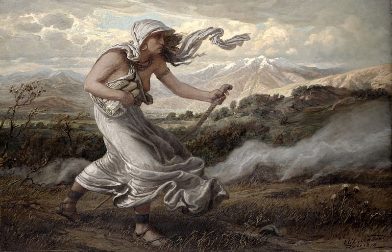 The Cumaean Sibyl, 1876. Elihu Vedder