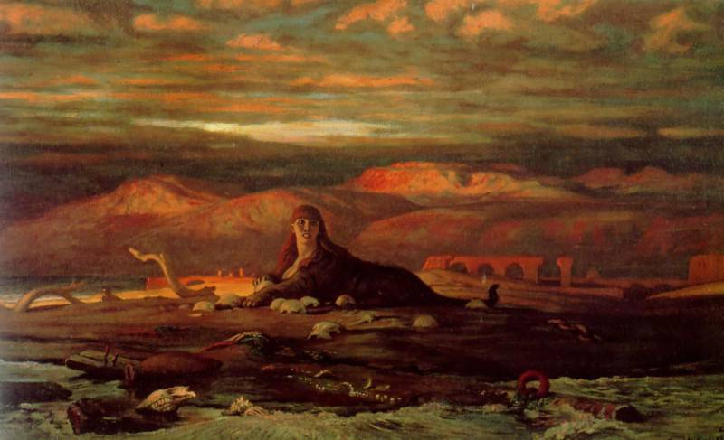 The Sphinx of the Seashore. Elihu Vedder