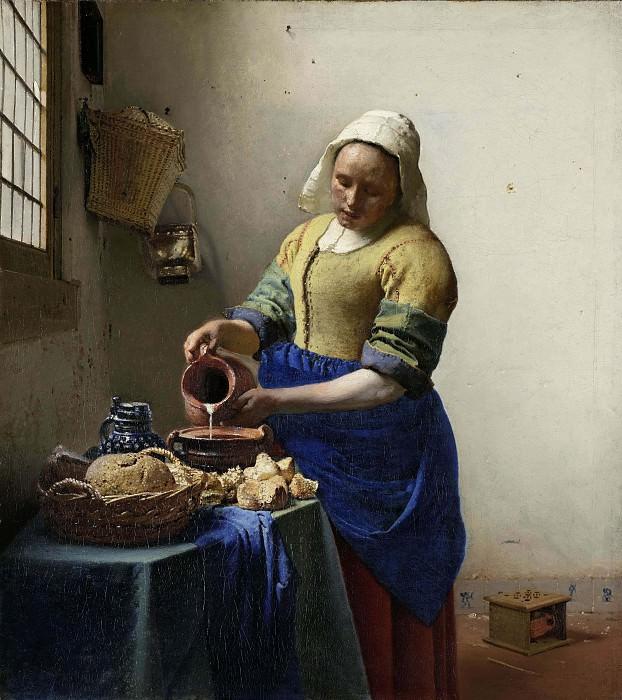 The Milkmaid. Johannes Vermeer