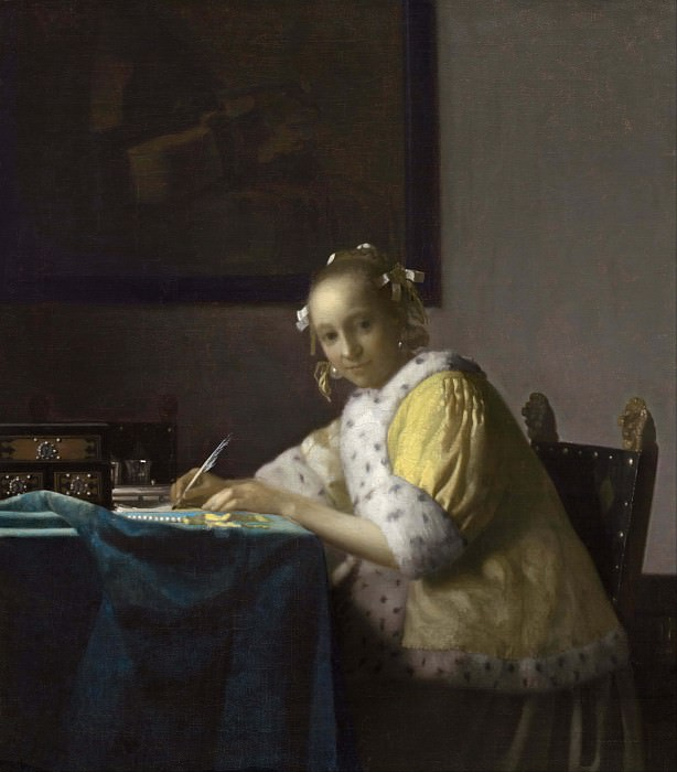A Lady Writing. Johannes Vermeer