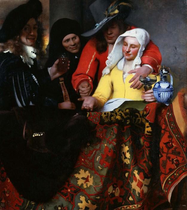 The Procuress. Johannes Vermeer