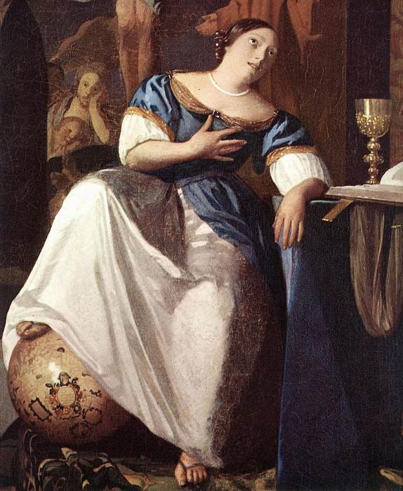 Vermeer The Allegory of the Faith detail1. Johannes Vermeer