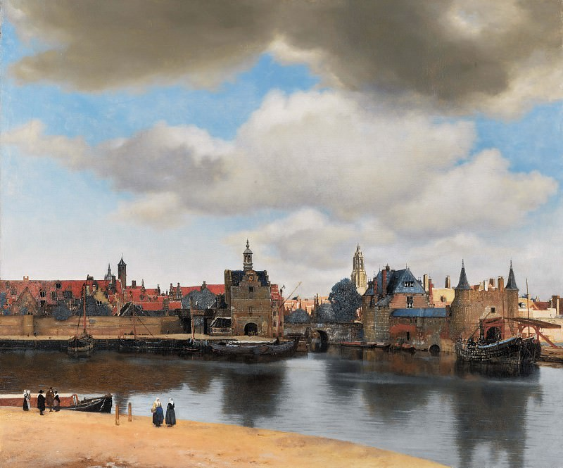 View of Delft. Johannes Vermeer