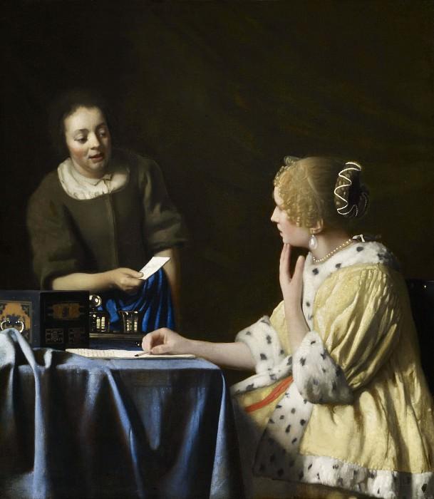 Mistress and Maid. Johannes Vermeer