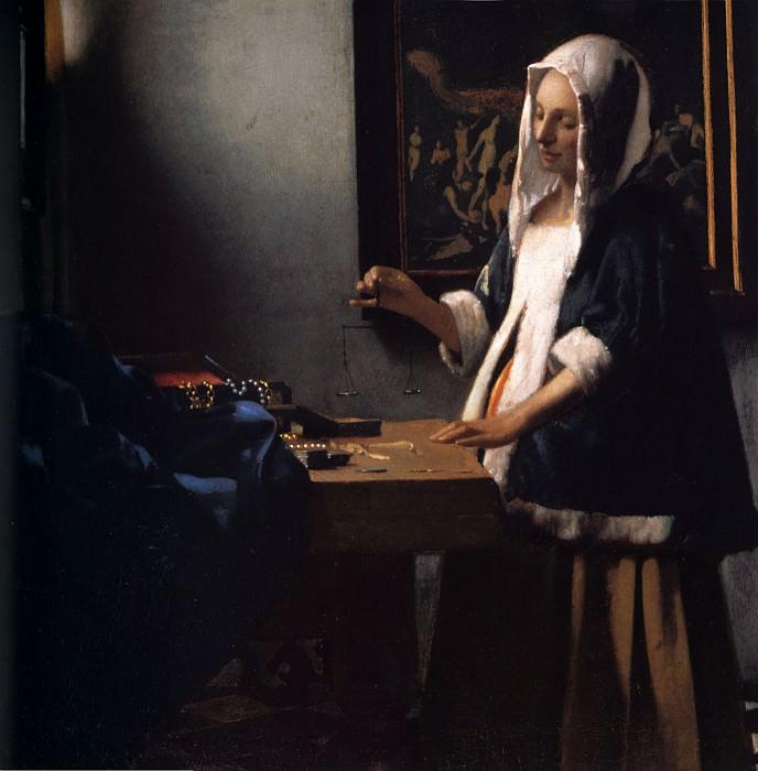 Woman with a Balance. Johannes Vermeer