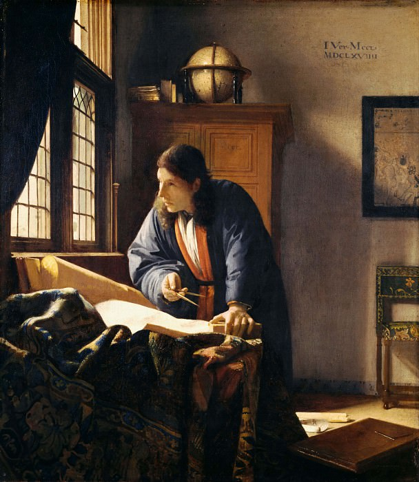 The Geographer. Johannes Vermeer