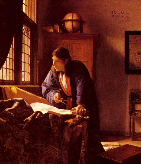 Vermeer The Geographer. Ян Вермеер