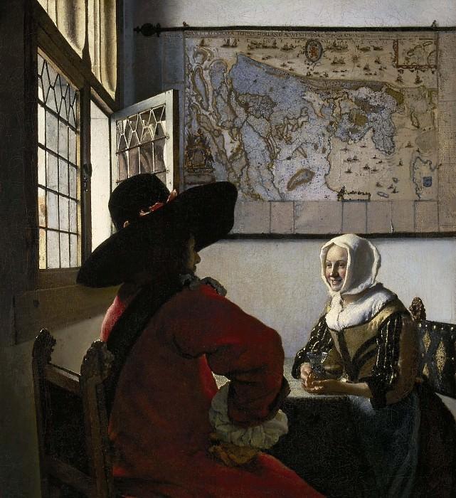 Officer and Laughing Girl. Johannes Vermeer