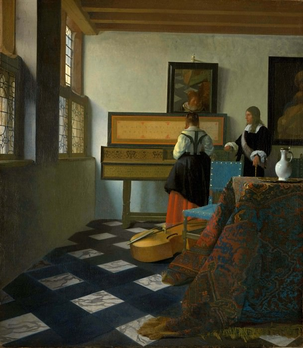 The music lesson. Johannes Vermeer