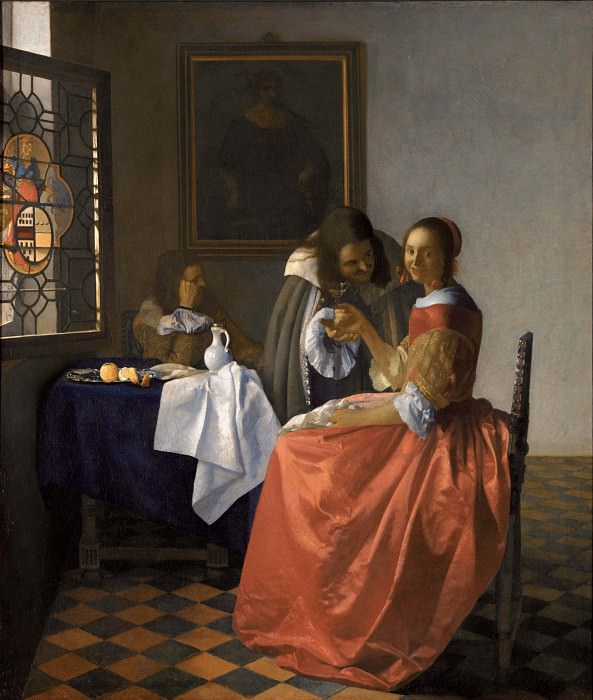 The girl with wineglass. Johannes Vermeer