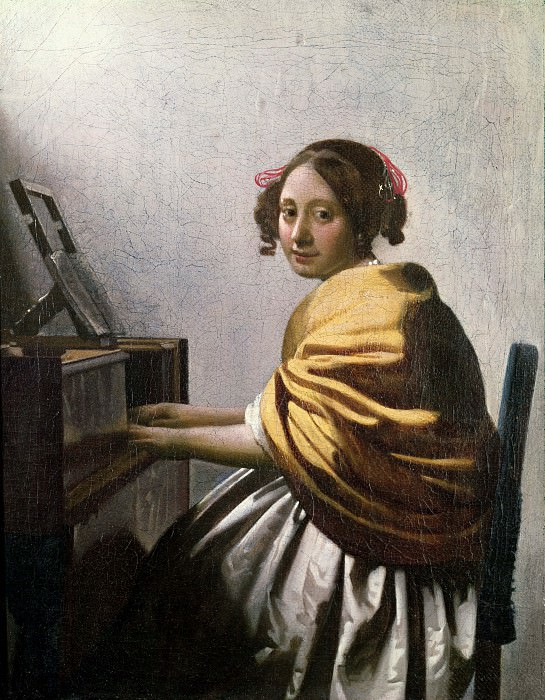 Young Woman at a Virginal. Johannes Vermeer