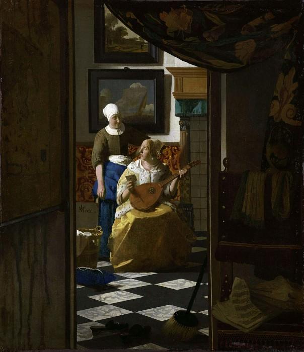 The Love Letter. Johannes Vermeer