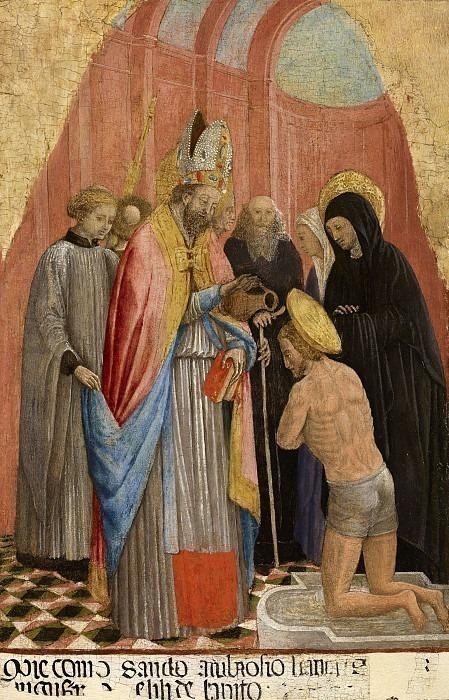 Святой Амброджо крестит Святого Августина. Антонио Виварини