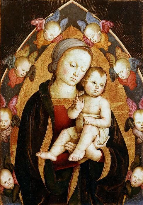 Мадонна с Младенцем в окружении серафимов. Антонио дель Массаро да Витербо