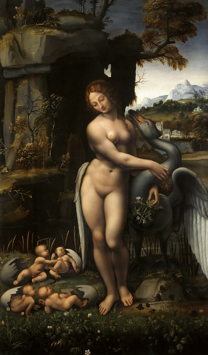 Leda and the Swan (Francesco Melzi). Leonardo da Vinci