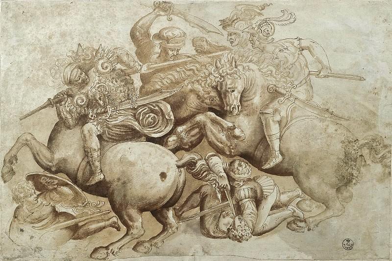 The Battle of Anghiari, detail. Leonardo da Vinci