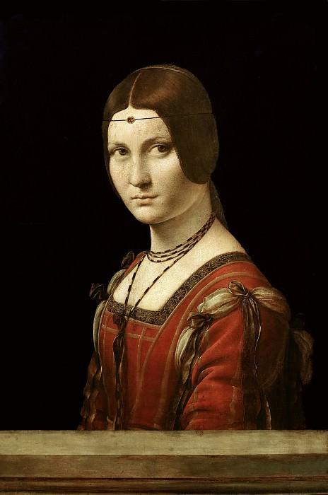 La Belle Ferronniere (Portrait of a Lady from the Court of Milan). Leonardo da Vinci
