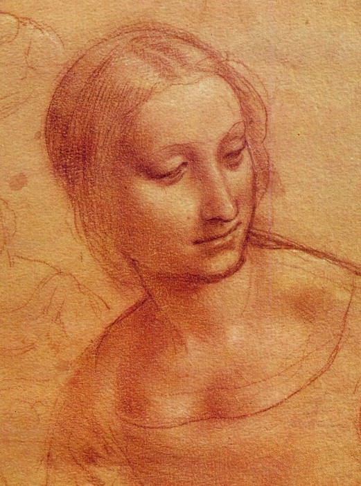 Head of a Woman. Leonardo da Vinci