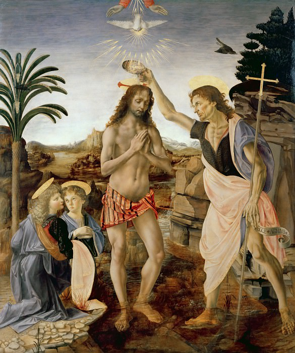 The Baptism of Christ (Verrocchio, Andrea and Vinci, Leonardo da). Leonardo da Vinci