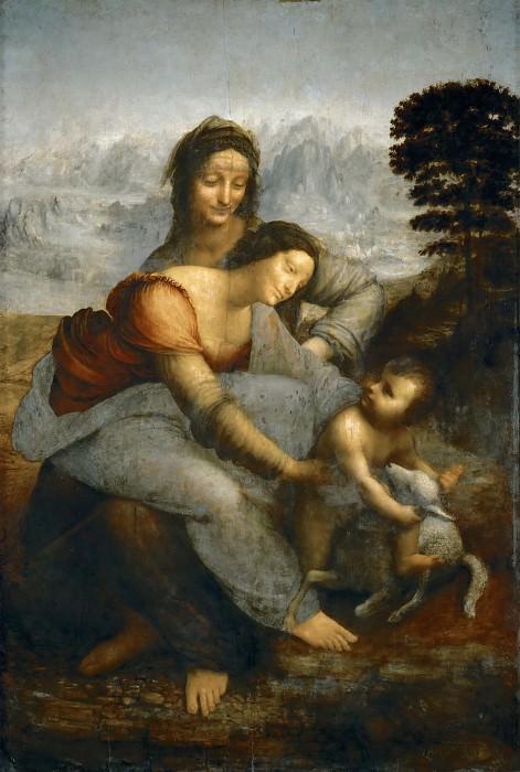The Virgin and Child with Saint Anne. Leonardo da Vinci