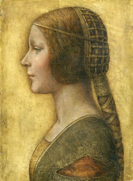 «La Bella Principessa», Profile of a Young Fiancee. Leonardo da Vinci
