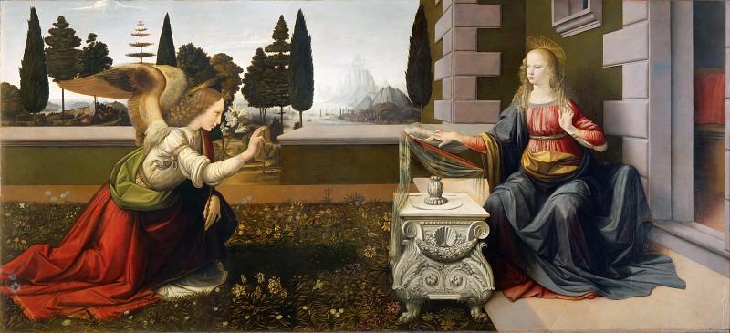 Annunciation. Leonardo da Vinci