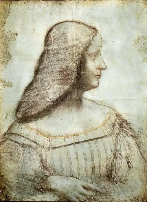 Isabella d'Este. Leonardo da Vinci