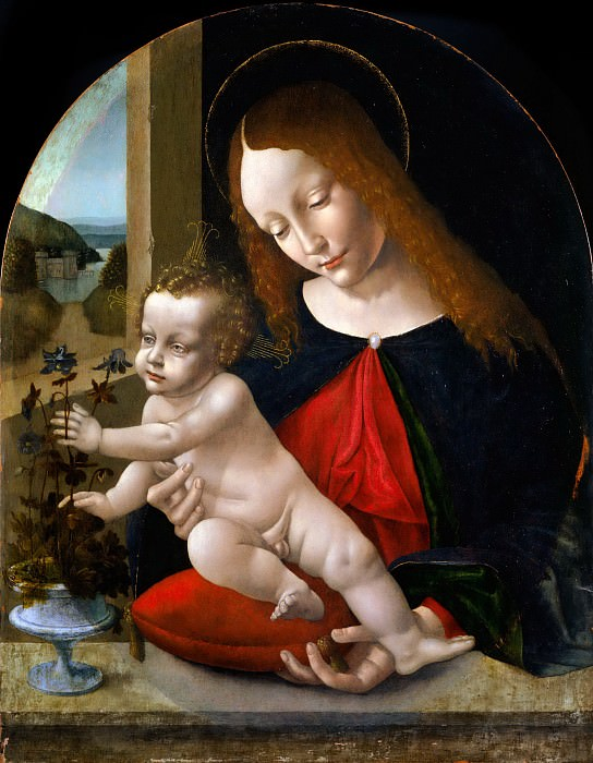 Madonna and Child. Leonardo da Vinci (Workshop)