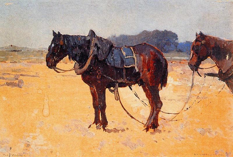 Vreedenburgh Cornelis Work Horses Sun. Cornelis Vreedenburgh