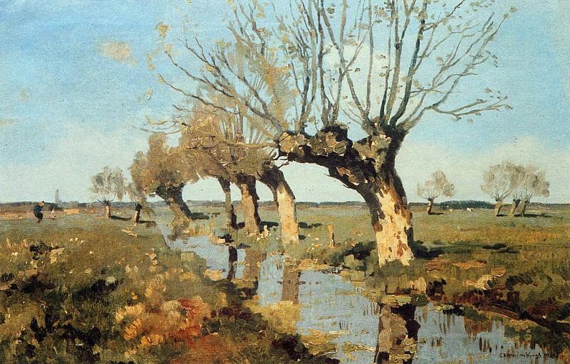 Vreedenburgh Cornelis Pollard Willow At The Side Of The Broo. Cornelis Vreedenburgh