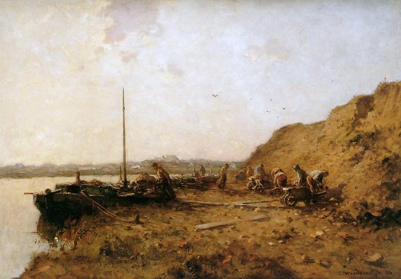 Vreedenburgh Cornelis Sand diggers Sun. Cornelis Vreedenburgh