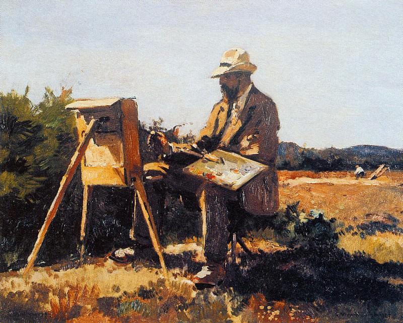 Vreedenburgh Cornelis Painter Jan Bakker At Work Sun. Cornelis Vreedenburgh