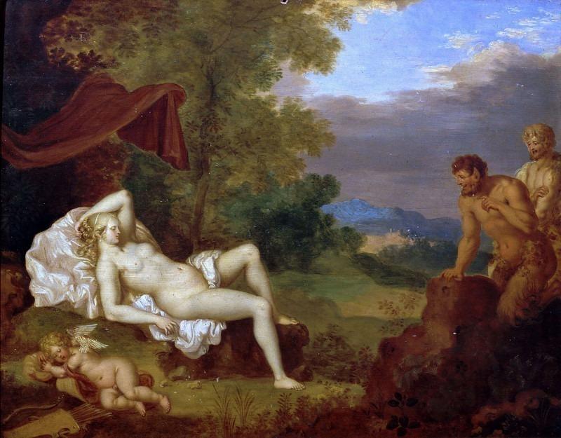 Спящая Венера с Амуром и двумя сатирами. Даниэль Вертанген