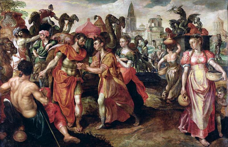 Laban Searching for Eliezer at the Well. Maarten de Vos