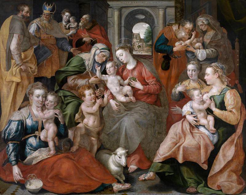 Семья Святой Анны. Мартин де Вос