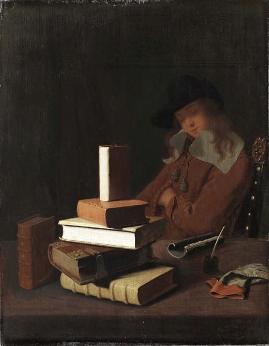 The Sleeping Student. Constantin Verhout