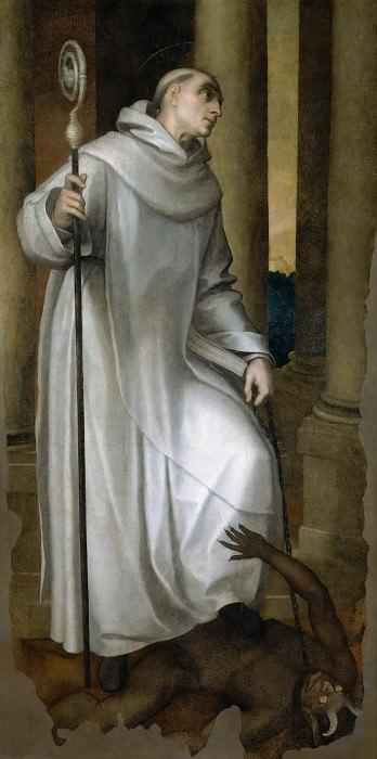 Saint Bernard Crushing a Demon. Marcello Venusti
