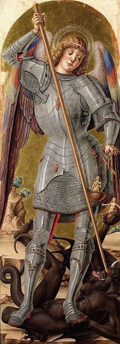 Сан-Микеле Арканджело (Полиптих Сканцо). Бартоломео Виварини