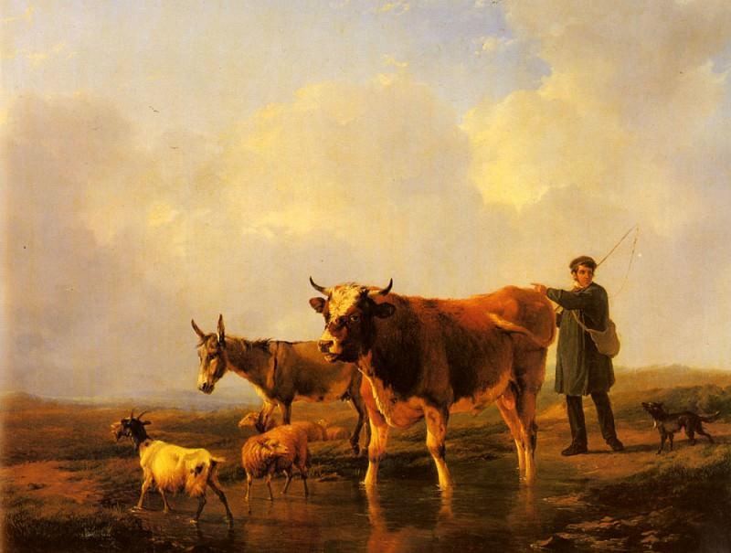 Verboeckhoven Eugene Joseph Crossing The Marsh. Eugene Joseph Verboeckhoven